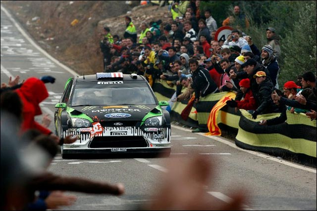 photo haute definition rallye espagne 2011 wrc ken block ford focus