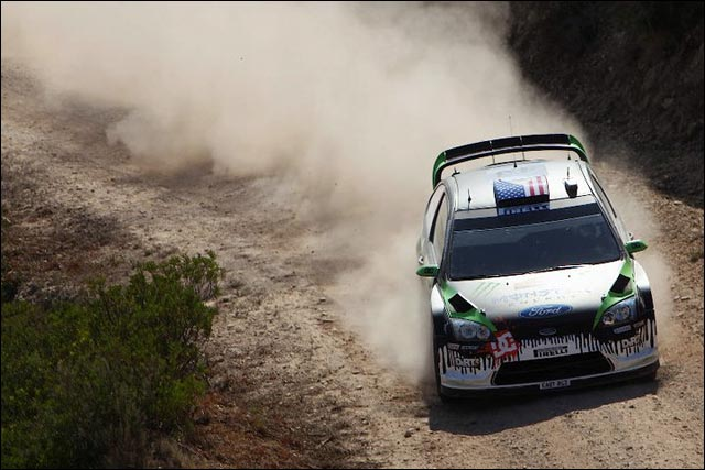 photo hq ken block ford focus wrc rallye espagne 2011