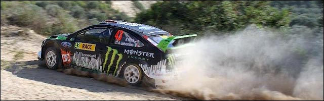 photo rallye espagne 2010 wrc ken block ford focus 2011