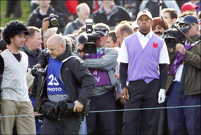 Tiger Woods golf stfu gtfo photographe balle
