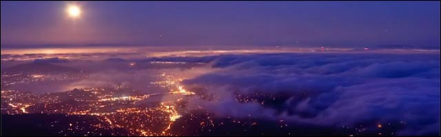 The unseen sea mer de nuages video hd baie San Francisco