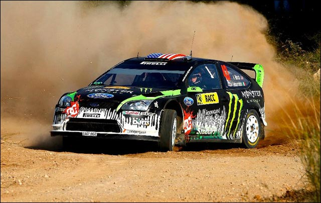 Ken Block hd rallye WRC Ford Focus RS WRC photo rallye de france espagne
