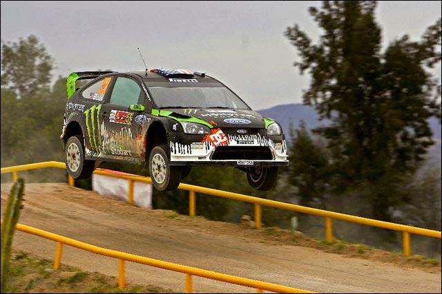 photo hd rallye WRC Ford Focus RS WRC Ken Block