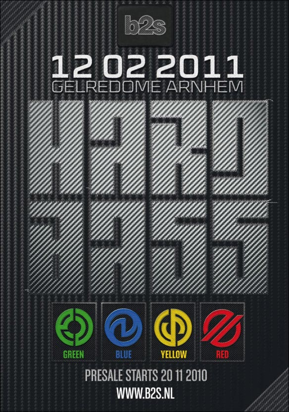 hard bass 2011 affiche officielle dance event NL