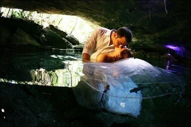 achat robe de mariee pas cher photo insolite lac etang mare eau