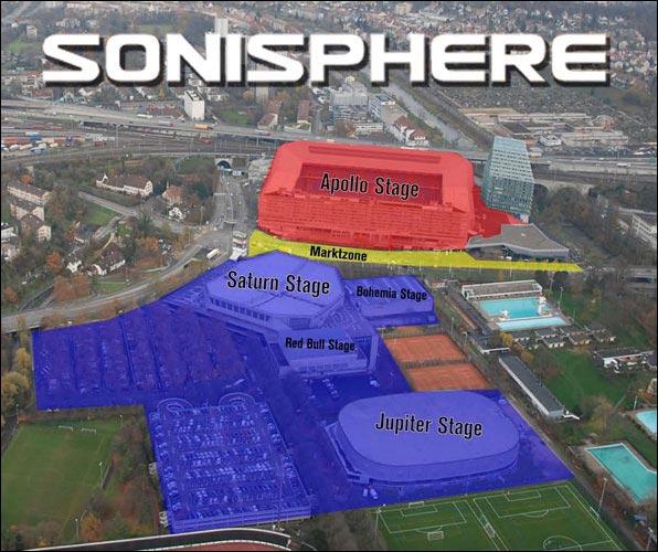 Sonisphere 2011 Suisse plan scenes Basel Bale St Jakob stade foot