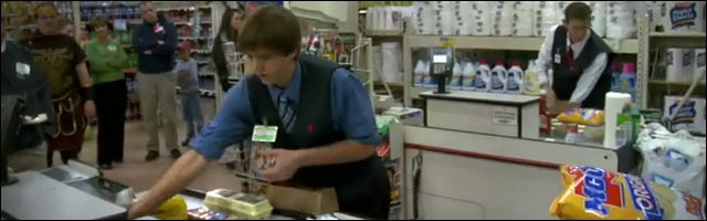 video champion du monde emballage supermarche usa etats unis