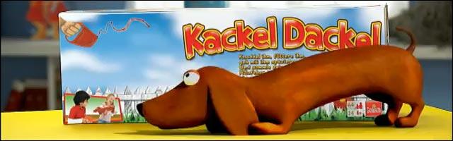 Kackel Dackel cadeau chien qui chie jouet noel Allemagne humour louche