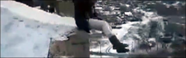 russie saut elastique luge immeuble ruine suicide video insolite