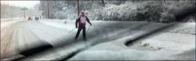 actualite neige glissade route N118 paris skieur alpin autoroute photo
