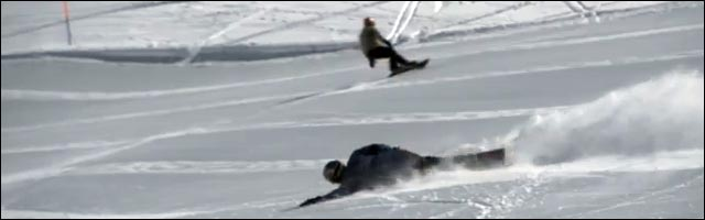 snowboard couché virage extreme carving video photo