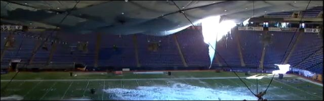 minneapolis minnesota vikings stade football us toit inondation neige
