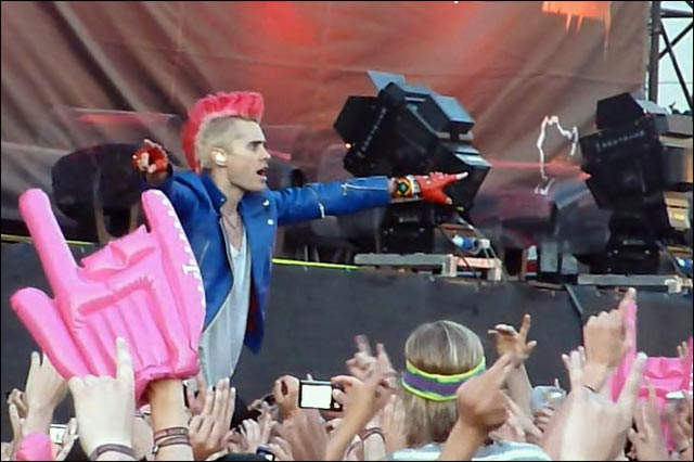 Jared Leto photo hq 30 Seconds To Mars concert slam crowdsurf