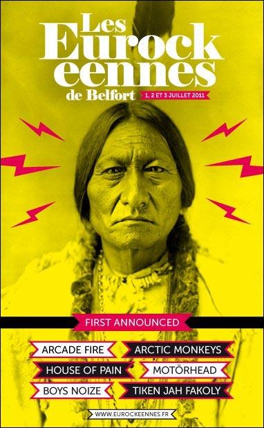 affiche programme officiel festival Eurockeennes Belfort 2011