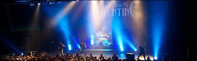 photo concert live Bullet For My Valentine Fever tour BMFV groupe