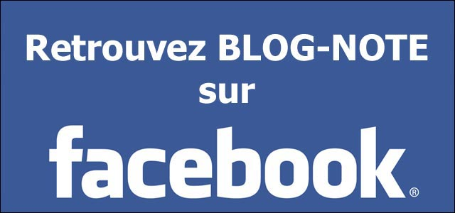 page Facebook officielle Blog-Note