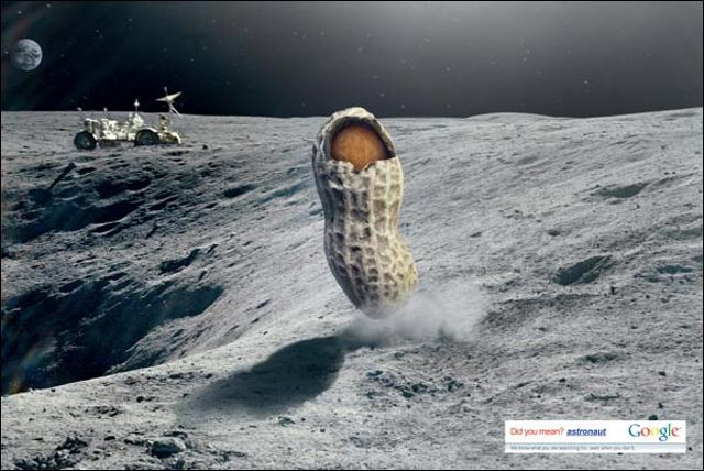 google cacahuette photo publicite