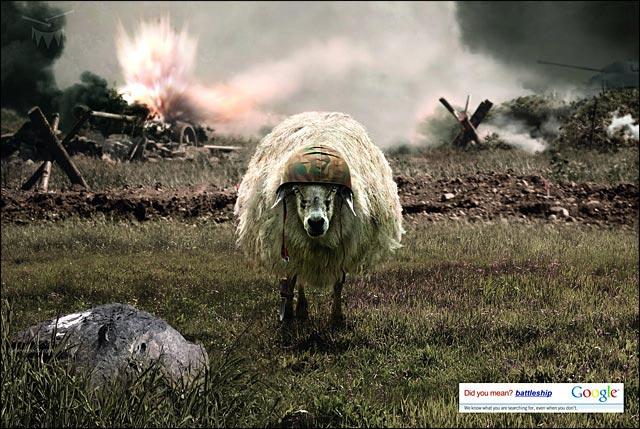 google pub mouton print ad publicite photo