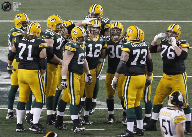 photo pix Super Bowl XLV 2011 Green Bay Packers winners FTW