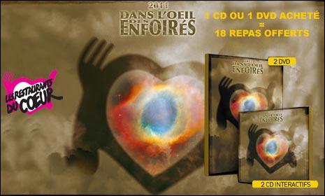 Les Enfoires 2011 CD DVD telechargement profit don donation