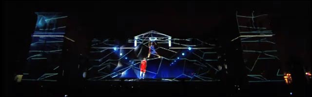 publicite promo adidas jeu spectacle son lumiere 3d video