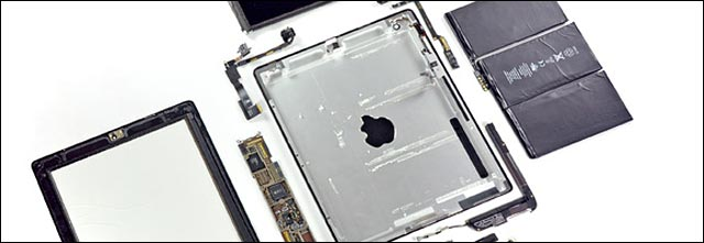 tutoriel photo reparer Apple iPad 2 demonte isuppli ifixit