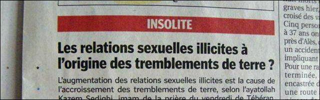 journal seisme sexe