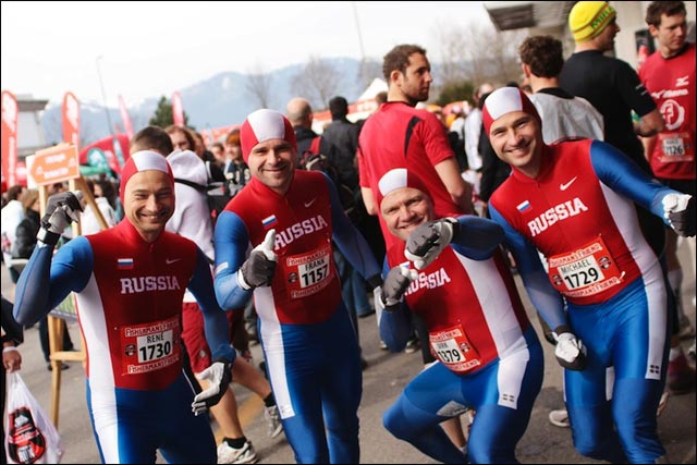 strongman run equipe russe meanwhile in soviet russia photo