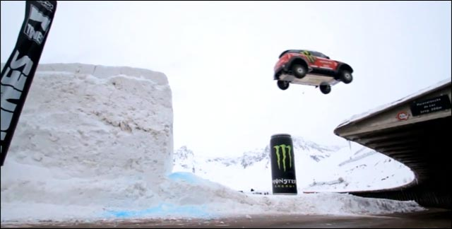 video hd Guerlain Chicherit photo sport BMW Mini saut neige ski Monster
