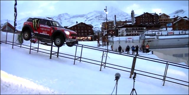video hd photo Guerlain Chicherit Mini Cooper All4 Tignes station ski