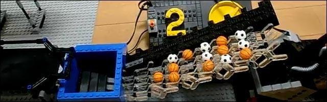 video hd Lego GBC usine assemblage voyage ballon
