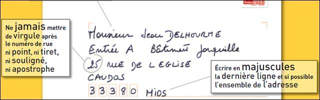 poster ecrire correctement adresse enveloppe la poste envoi courrier