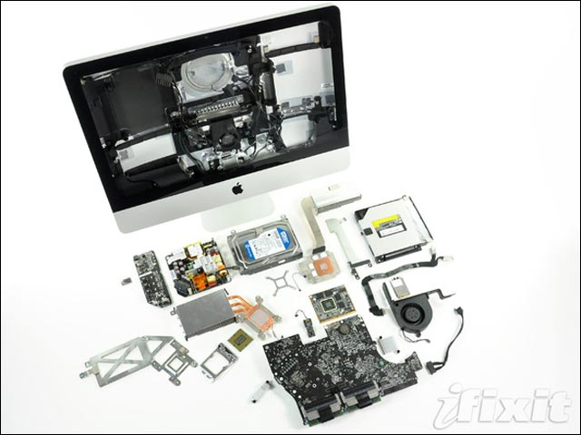 tutoriel guide demonter reparer Apple iMac howto manuel photo