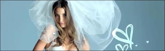 Victoria Secret bridal lingerie Sexy Little Bride video hd Lily Aldridge model