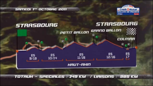 video hd Rallye de France 2011 WRC tracer itineraire route parcours jour2