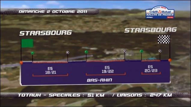 photo hd Rallye de France 2011 WRC tracer itineraire route parcours jour3