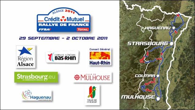 tracer itineraire route parcours gratuit Rallye de France 2011 WRC Loeb