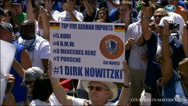 NBA Dirk Nowitzki Dallas Mavericks Mavs MVP NBA Finals 2011 Allemagne