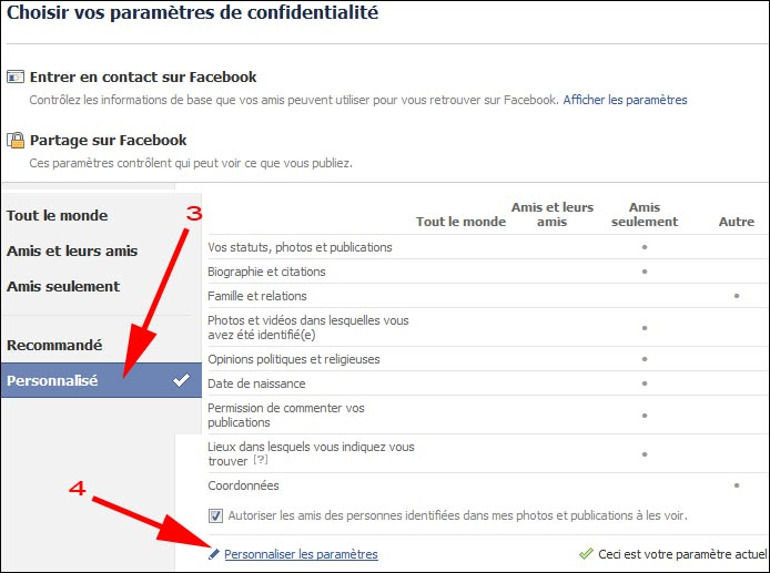 Facebook tutoriel changer reglage securiser parametre confidentialite FB