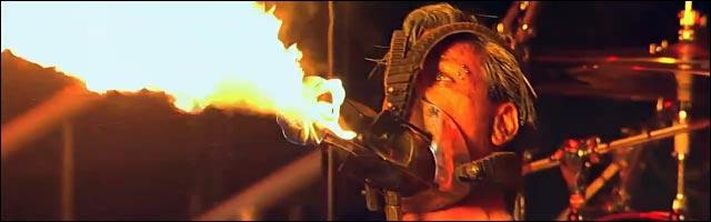 video hd rammstein live concert feuer frei pyrotechnique feu artifice lance flamme