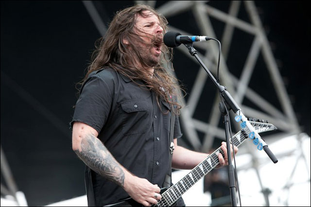 photo hd Rob Caggiano chanteur Anthrax concert live Sonisphere Festival 2011 France
