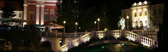 photo triple pont Ljubljana Tromostovje Slovenie tourisme sortir ville etudiante