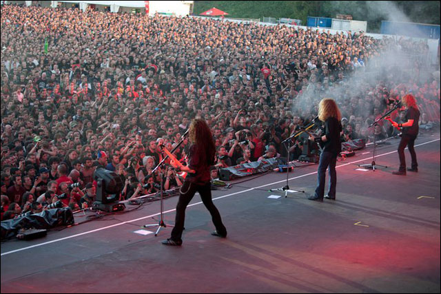 photos hd concert Megadeth live at Sonisphere Festival 2011 France Metz Amneville
