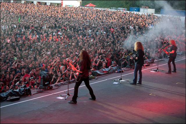 photos hd concert Megadeth live at Sonisphere Festival 2011 France Metz Amneville