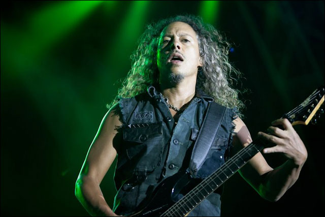 photo hd live Metallica Kirk Hammett concert Sonisphere Festival 2011 France