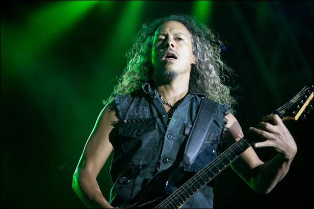 photo hd live Metallica Kirk Hammett concert Sonisphere Festival 2011 France
