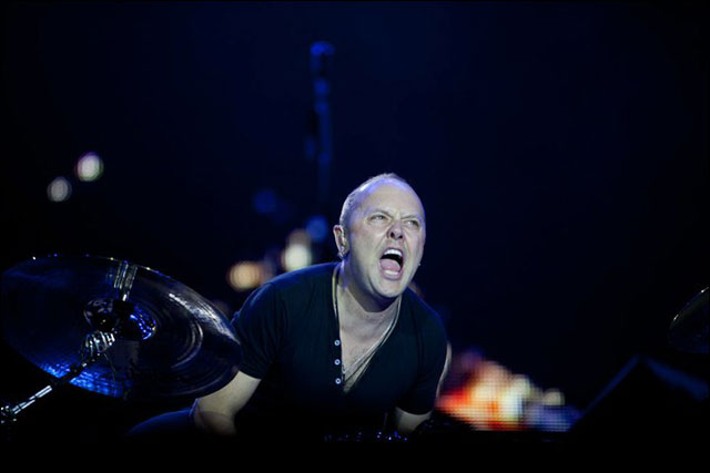 photo hd Metallica Lars Ulrich live concert Sonisphere Festival 2011 France