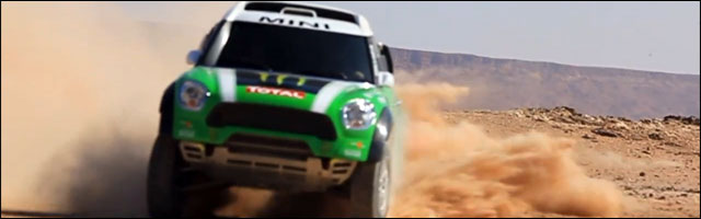 video hd presentation entrainement BMW Mini pour Paris Dakar 2012 ? Monster Energy