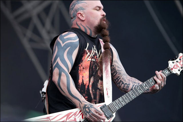 photo hd live Slayer Kerry King guitare concert Sonisphere Festival 2011 France
