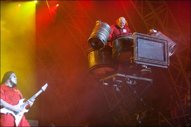 Shawn Crahan Slipknot concert Sonisphere Festival 2011 photo live Metz Amneville